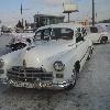 ретро автомобиль    ГАЗ-12  ЗИМ   белый