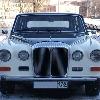 ретро автомобиль     Ягуар Даймлер DS420  бело-черный