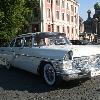 ретро автомобиль    Лимузин Чайка ГАЗ 13  белый